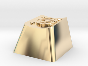 One Piece Cherry MX Keycap in 14k Gold Plated Brass