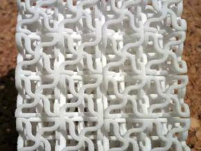 Curly Corner Convolution Cube in White Natural Versatile Plastic