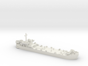 1/600 LST MkII Late 2x LCVP in White Natural Versatile Plastic