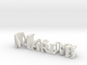 3dWordFlip: Marine/Christian in White Natural Versatile Plastic
