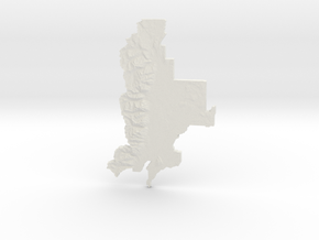 Grand Teton National Park, WY, 1:250000 Explorer in White Natural Versatile Plastic