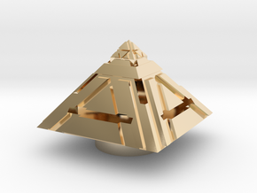 Saber plug sith holocron -TOP- in 14K Yellow Gold