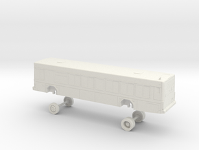 HO Scale VTA Gillig Low Floor Bus 2000 series in White Natural Versatile Plastic