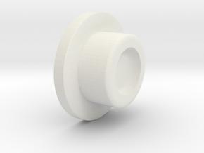 SwedishVaper SquonkER button in White Natural Versatile Plastic