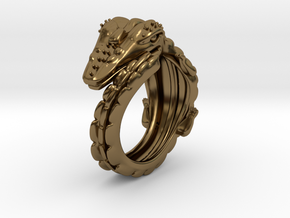 Dragon Ring in Polished Bronze