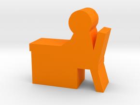 Game Piece, Desk Worker in Orange Processed Versatile Plastic