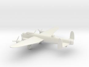 Avro Lancaster B.III in White Natural Versatile Plastic: 6mm