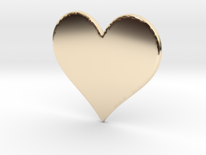 My SWEET HEART in 14K Yellow Gold: Extra Small