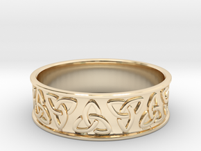 Celtic Ring in 14K Yellow Gold