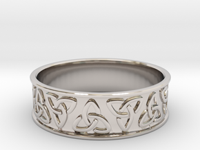 Celtic Ring in Rhodium Plated Brass