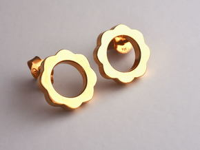 Flower Power - Stud Earrings in 14k Gold Plated