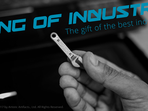 King of Industry - the gift of the best industrial in Polished Silver