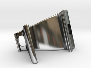 Phone Holder in Fine Detail Polished Silver