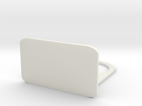 Phone Wall Charger in White Natural Versatile Plastic
