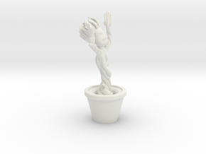 Dancing Groot in White Natural Versatile Plastic
