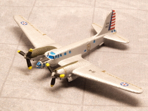 Douglas B-23 Dragon (Landing Gear) 1/285 6mm in White Natural Versatile Plastic