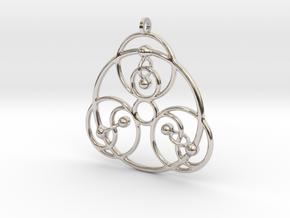 YyG Pendant in Rhodium Plated Brass