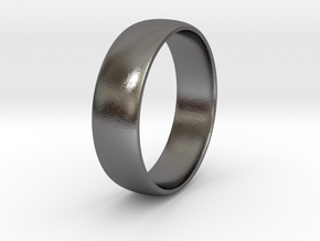 Men's Wedding Band Ring - 3D Printed Stainless Ste in Polished Nickel Steel: 9 / 59