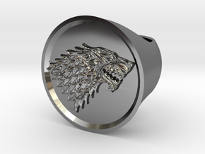 Ring House of Stark - Game Of Thrones in Fine Detail Polished Silver