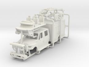 1/64 Terrastar 4 door/crew cab Medium Duty Rescue in White Natural Versatile Plastic