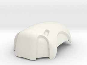 MGS1 - elbow pad  in White Natural Versatile Plastic