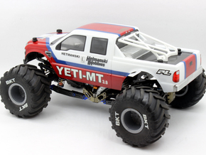 Bolt On Monster Truck Roll Bar in White Natural Versatile Plastic: 1:10