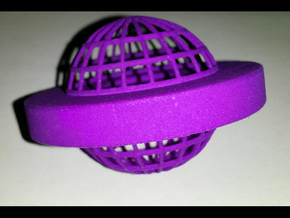 Flying Saucer in Purple Processed Versatile Plastic