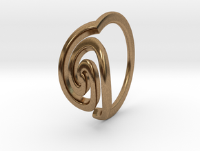 Spiral Ring, Size 4.5 in Natural Brass