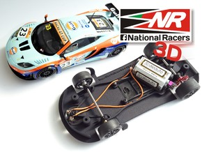 3D chassis - SuperSlot Mclaren MP4 (Aw/Sw) in Black Strong & Flexible