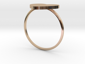 Thin Heart Ring  in 14k Rose Gold Plated