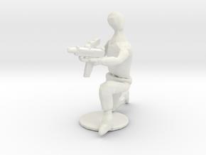 Fightersit6 in White Natural Versatile Plastic: 28mm