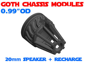 GCM099 - 20mm speaker + recharge port combo in White Natural Versatile Plastic
