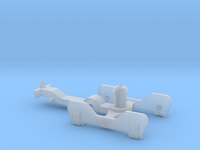 FR-style bogie with coupling in Smooth Fine Detail Plastic