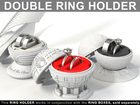 DOUBLE RING HOLDER (REGULAR) To (*) ALL RING BOXES in Red Strong & Flexible Polished