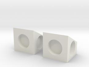 MPConnector - 90 degree Block 2 in White Natural Versatile Plastic