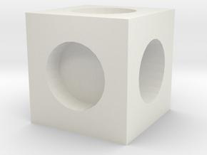 MPConnector - Connector Block 1 in White Natural Versatile Plastic