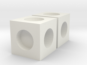 MPConnector - Connector Block 2 pack in White Natural Versatile Plastic