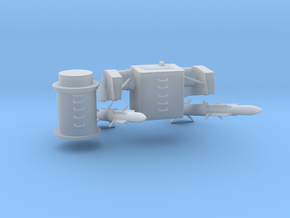 1/96 MK10 GSM (Launcher, 2 Missiles, Pedestal) in Smooth Fine Detail Plastic
