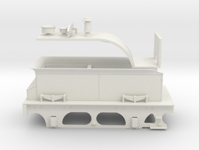 7mm - Furness D1 & E1 Tender in White Natural Versatile Plastic