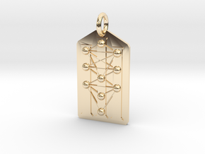 Three Pillars Tree of Life Medallion in 14K Yellow Gold