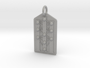 Three Pillars Tree of Life Medallion in Aluminum