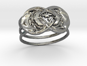 gold ring in Polished Silver