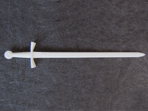 Crusader Sword - 1:4 in White Natural Versatile Plastic