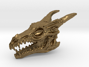 Dragon Skull in Natural Bronze