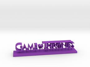 Logo game of thrones in Purple Processed Versatile Plastic