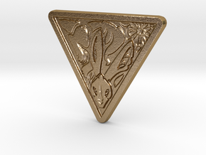 Lapine Coin in Polished Gold Steel