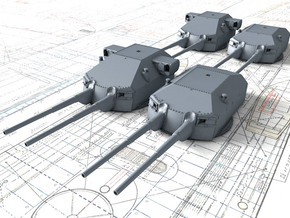 1/350 DKM 20.3cm/60 SK C/34 Guns with Bags 1941  in Smoothest Fine Detail Plastic
