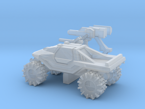 All-Terrain Vehicle closed cab with weapons in Smooth Fine Detail Plastic