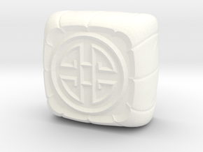 lunar cake keycap - cherryMX in White Strong & Flexible Polished