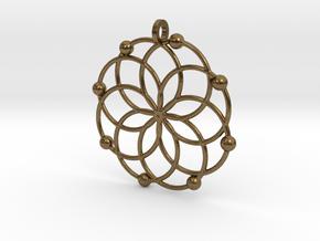 MC Pendant in Natural Bronze